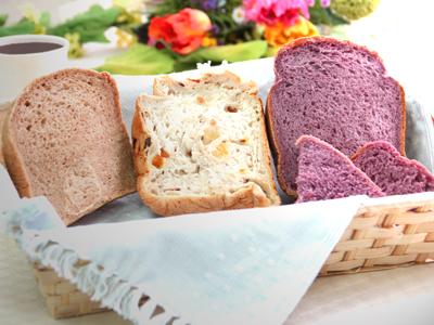 もっちり米粉入りパン