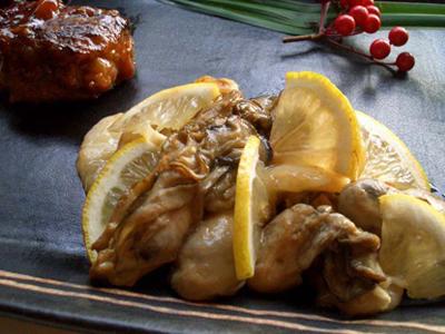 牡蠣と白玉の中華炒め