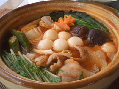 白玉入りキムチ鍋