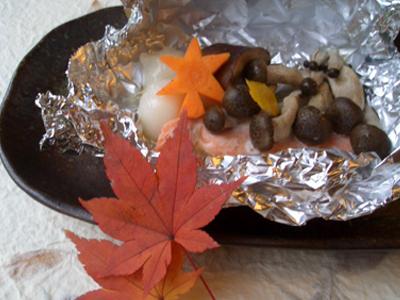白玉入り鮭のホイル焼き